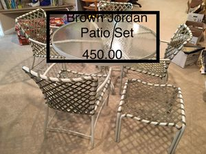 Brown Jordan 4 chair patio set for Sale in Rockville, MD
