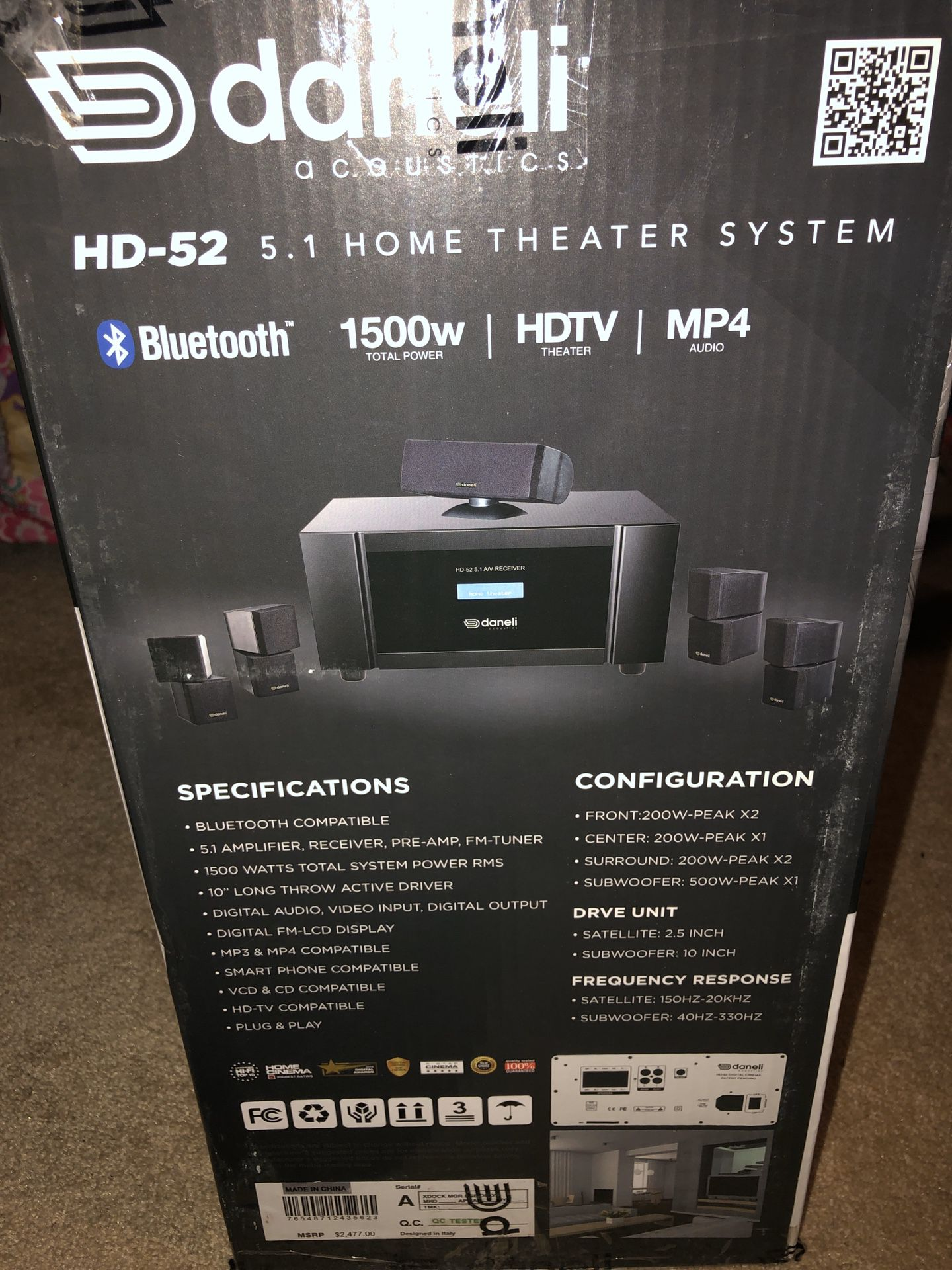 Daneli Acoustics HD - 52 HOME THEATER SYSTEM