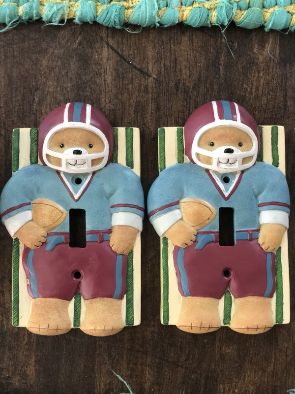 Irving Tx Kids Light Switch Cover Plates Teddy With Football For