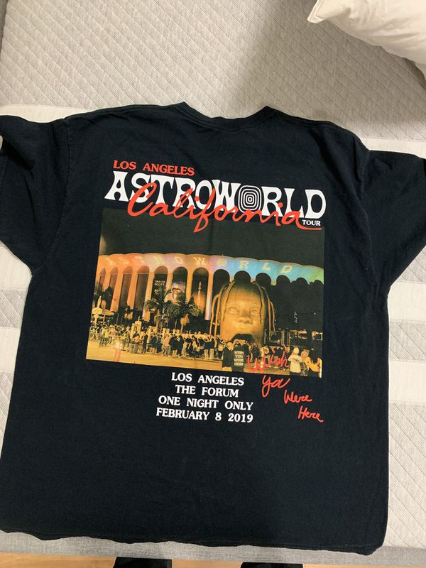 4fb278a215fa Travis Scott x Astroworld Tour Merch x Los Angeles Exclusive for ...