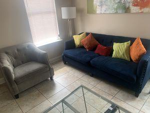 Photo Rooms to go sofa ,chair & ottoman $450 whole set