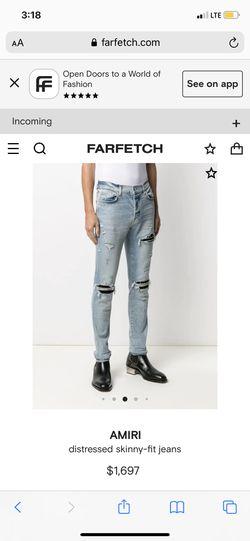 Mike Amiri Jeans Size 31 Brand New Thumbnail