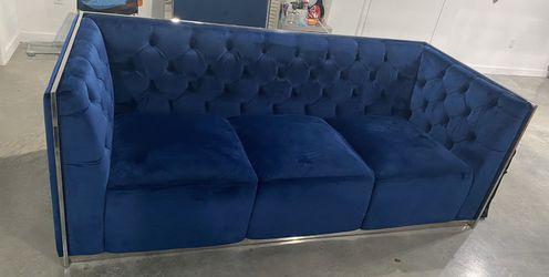 El Dorado Emma Blue Sofa Velvet Blue  Thumbnail