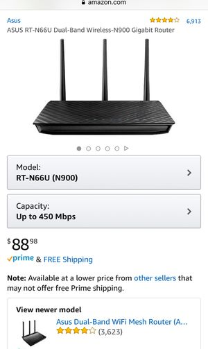 ASUS RT-N66U Gigabit Router for Sale in Goodyear, AZ - OfferUp