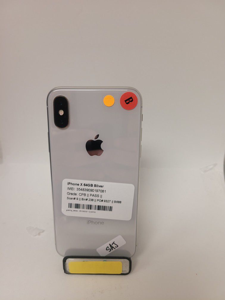 IPHONE X 64 GB FULLEY UNLOCKED TO ANY CARRIER ON SPECIAL PRICE ONLY FOR TODAY
