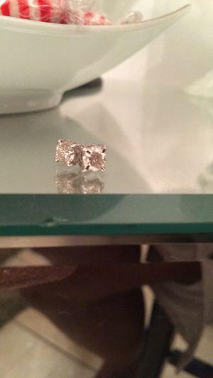 Auth 1.84 moissanite diamond earrings for Sale in Orlando, FL