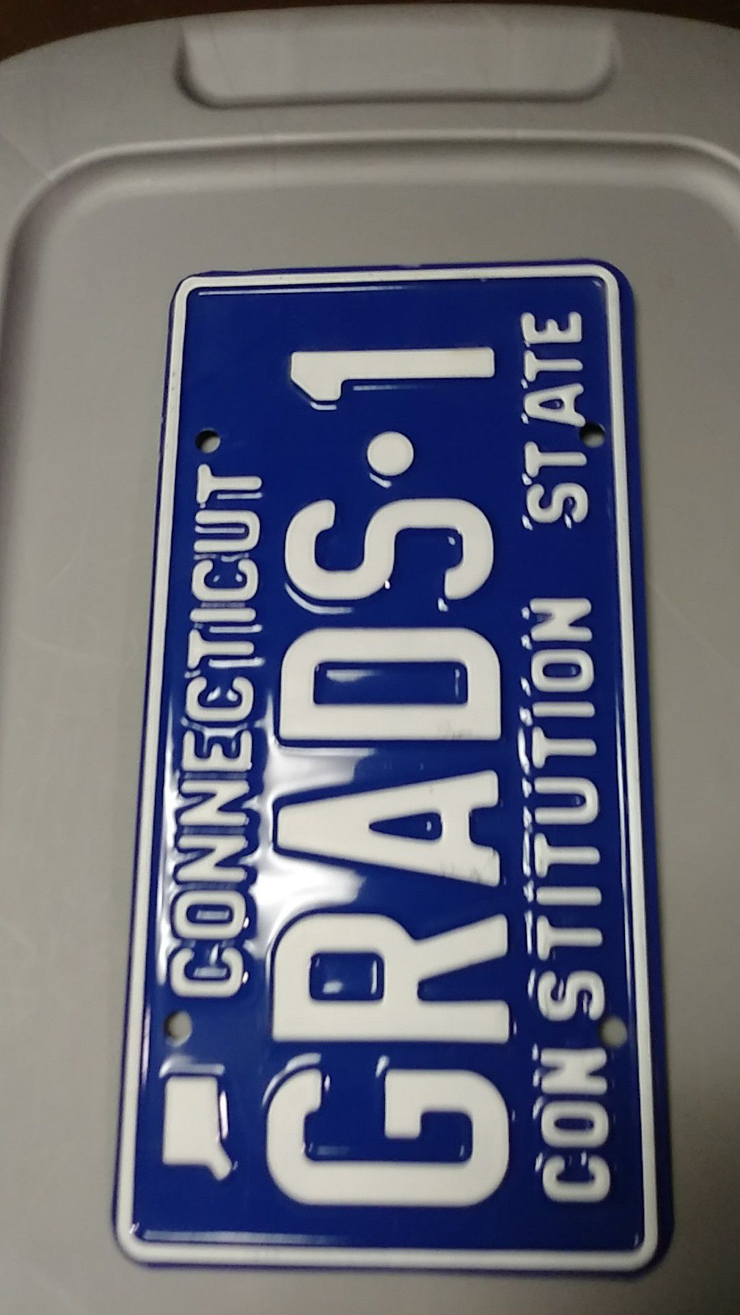Brand new old stock vanity plate never used