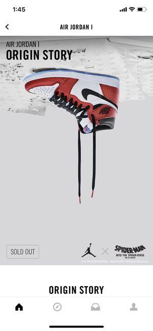 Nike Air Jordan Retro 1 Spider Man size 12 for Sale in Stafford, TX