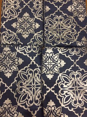 4 Blue & Silver Curtains for Sale in Rockville, MD