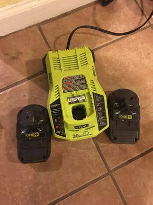 2 battery's and charger 18V for Sale in Adelphi, MD