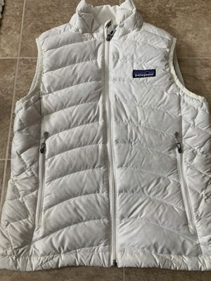 Photo Patagonia sleeveless puffer vest women's white XS