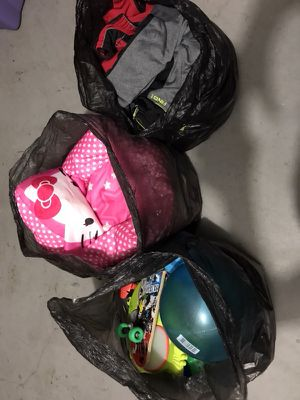 Kids toys and big boy cloth. All 3 bags for $60 for Sale in Laurel, MD