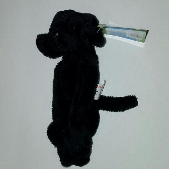 New Magnetic plush Black Lab Dog
