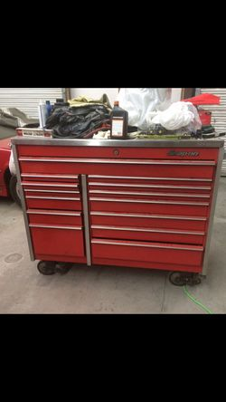 Snap On Tool Box With Stainless Steel Top Thumbnail