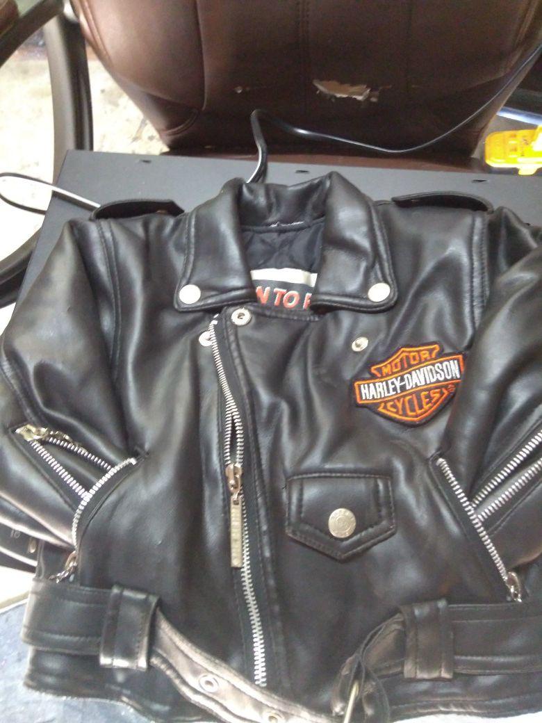 Toddler Harley jacket leather