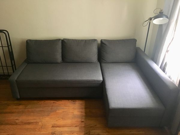 3-seat sectional sleeper sofa with storage under chaise for Sale in ...