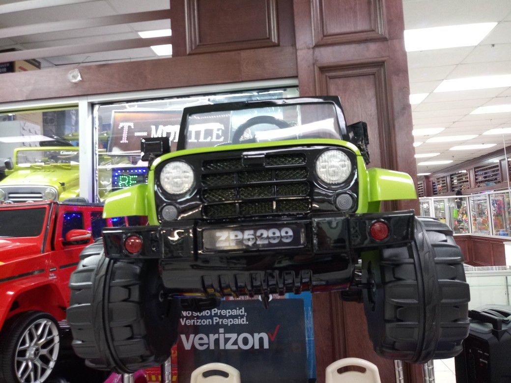 Lime Green Ride On Jeep