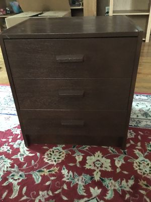 Sale moving Drawer three table end antique I did put color brown dark look like new for Sale in Washington, DC