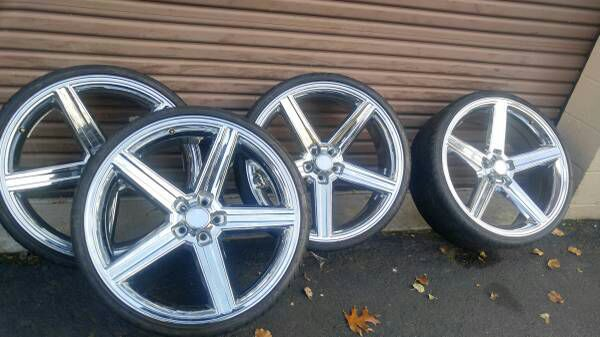 """Used Truck Dealerships >> Excellent condition 24"""" Iroc rims 5x4.75 5x120 and tires for Sale in Edgewood, MD - OfferUp"""
