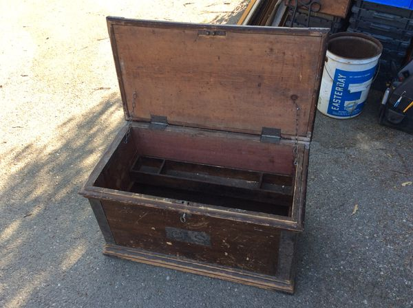 Antique Carpenters Wood Tool Chest With Key 12500 Cash For Sale In Bloomington Ca Offerup
