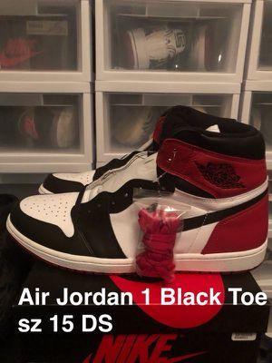 Air Jordan 1 Black Toe sz 15 DS for Sale in Laveen Village, AZ