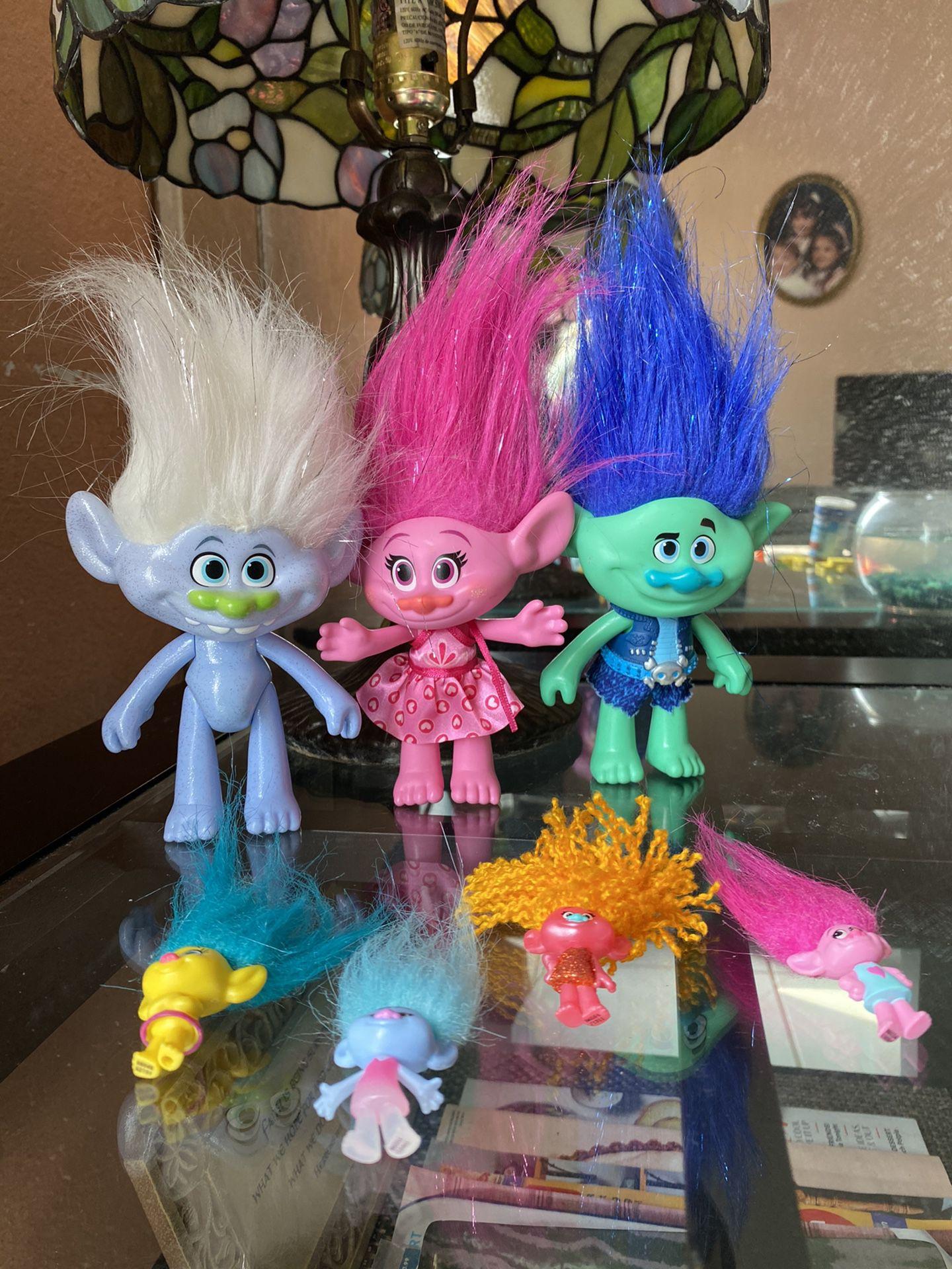 Trolls movie toy lot
