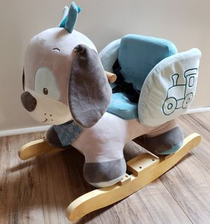 2df669a1049c2c Nattou Plush Dog Rocker with Seat Belt - Like New for Sale in Barnhart