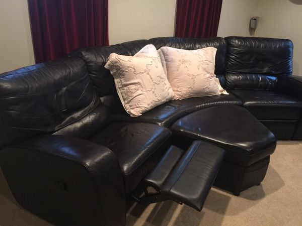 Amazing Dania Leather Reclining Couch 8Ft For Sale In Tacoma Wa Offerup Gmtry Best Dining Table And Chair Ideas Images Gmtryco