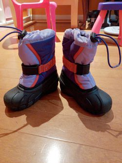 Sorel Kid size 9 snow boots Thumbnail