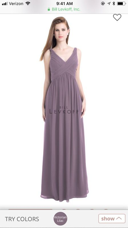 2bf4863fa9 Bridesmaids dress  prom Bill Levkoff Bridesmaid Dress 730 Victorian Lilac  size 2