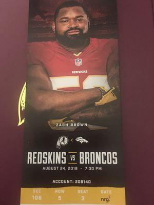 Redskins vs Broncos for Sale in Washington, DC