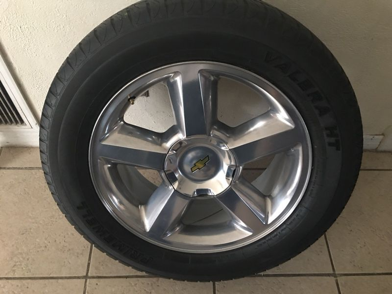 """20"""" Rims and tires just had the Rims refinish the tires or 3month old but will Negotiate price"""