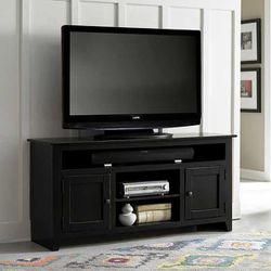 58in TV Console - Black Thumbnail