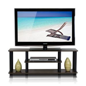 Turn-N-Tube No Tools 3D 3-Tier Entertainment TV Stands, Dark Brown By Furinno for Sale in Houston, TX