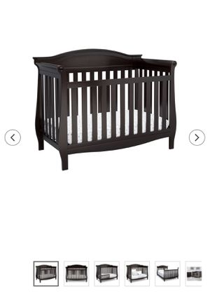 Baby crib dark wood for Sale in Silver Spring, MD