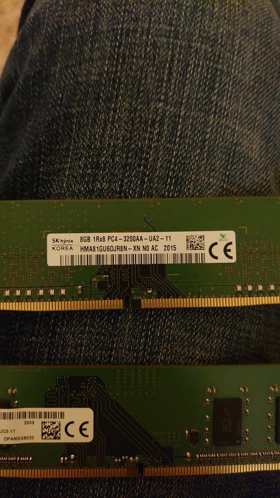 Ram DDR4 8gb Stick And 4gb Stick 12gb Total