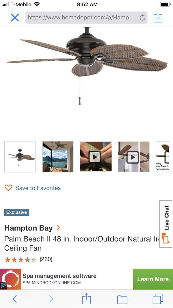 Hampton bay ceiling fan for sale in ellenwood ga offerup open in the appcontinue to the mobile website aloadofball Image collections