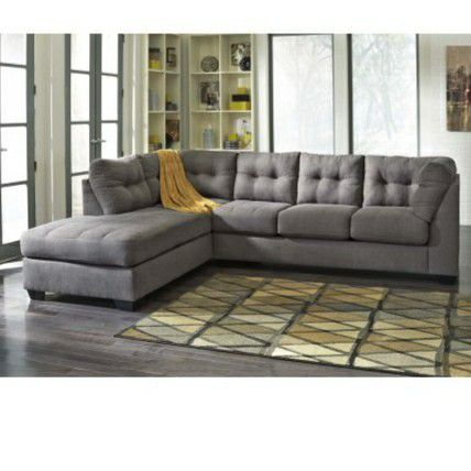 Gray tufted sectional BRAND NEW! for Sale in Lawrenceville, GA - OfferUp