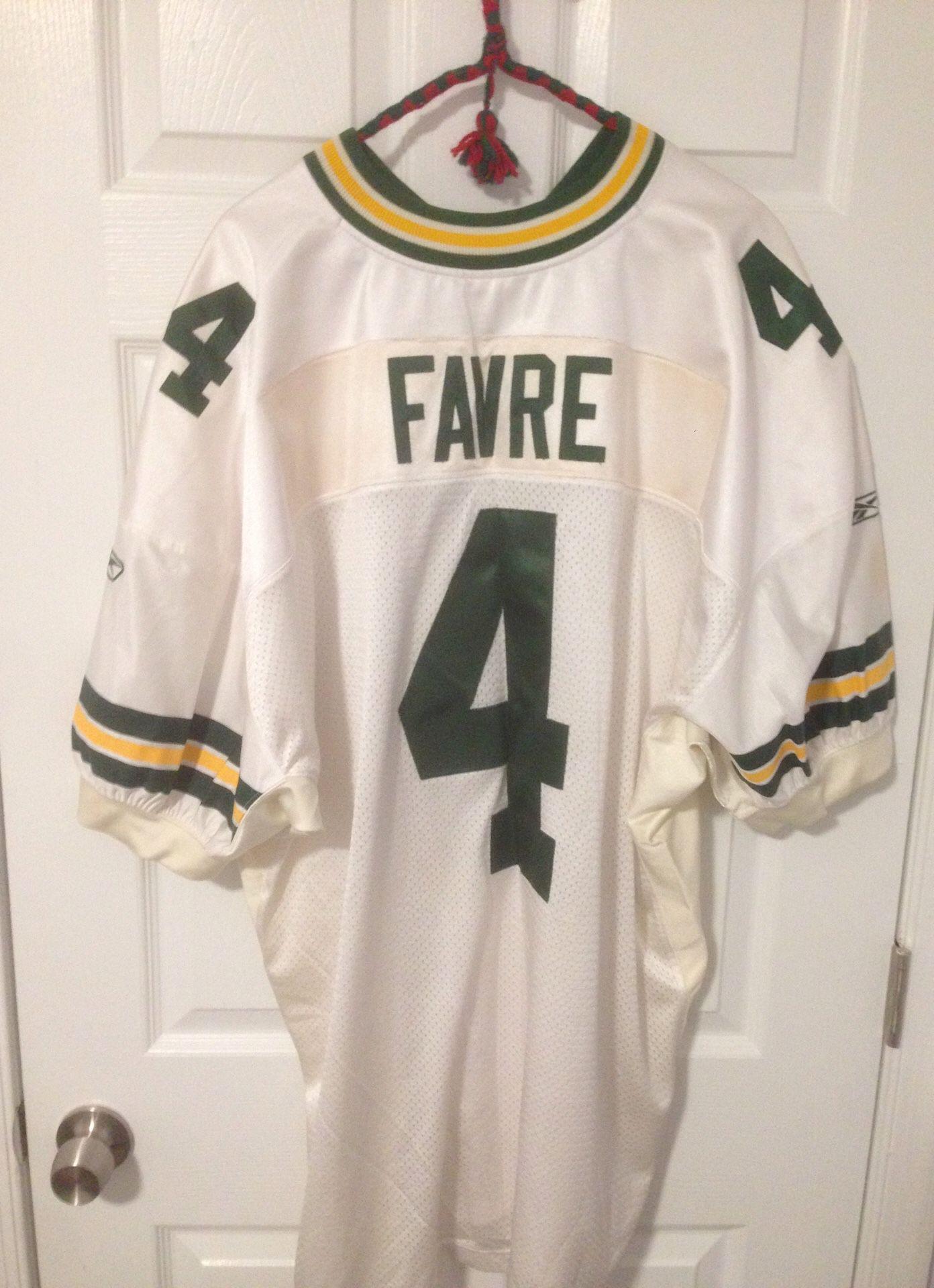 Reebok Brett Favre Green Bay Packers size 56