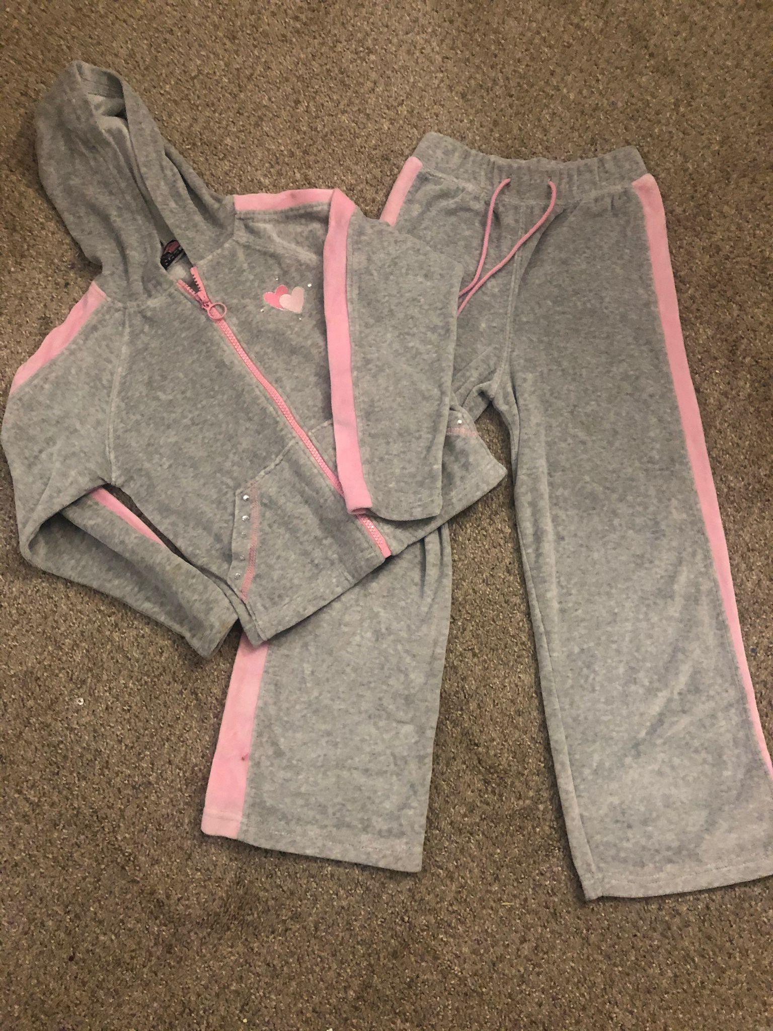 Girls 6x Velour Pants Suit