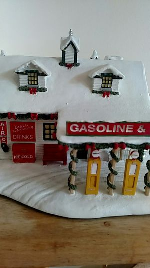 Norman Rockwell's Christmas village Gas station for Sale in Woodbridge, VA