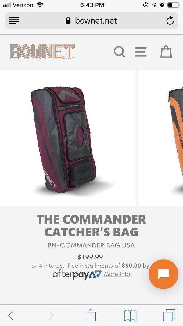 Brand New Bownet Commander Softball Baseball Catchers Bag For Sale