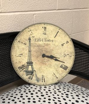 Paris Theme Clock for Sale in Cleveland, OH
