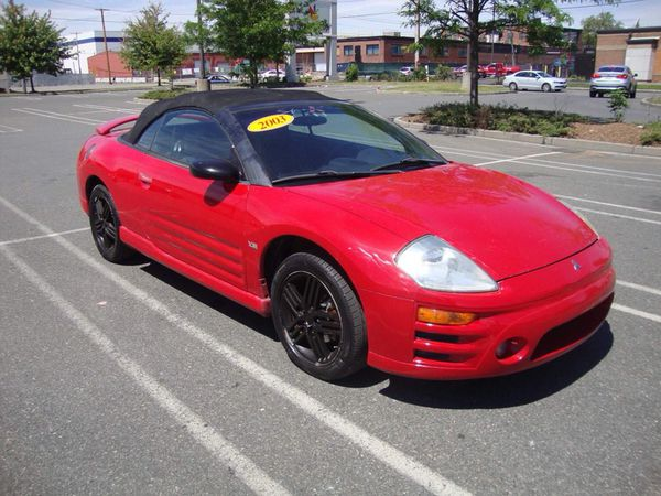 2003 Mitsubishi Eclipse Gt Spyder Red Convertible V6