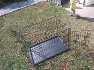 Photo Compactable dog kennel for large dog