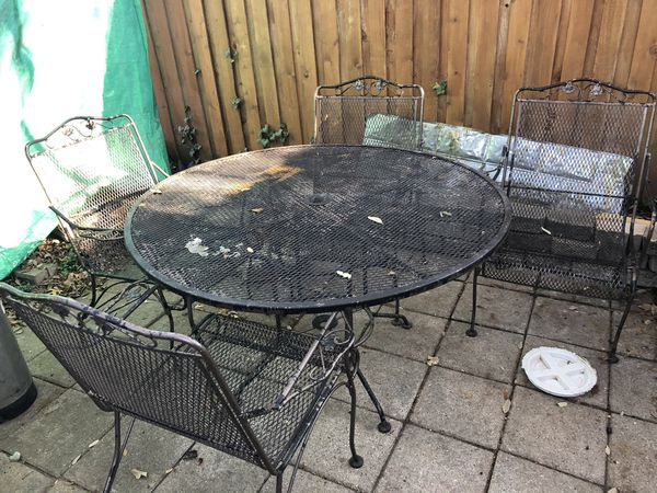 Cast iron patio furniture set Still Available for Sale ...