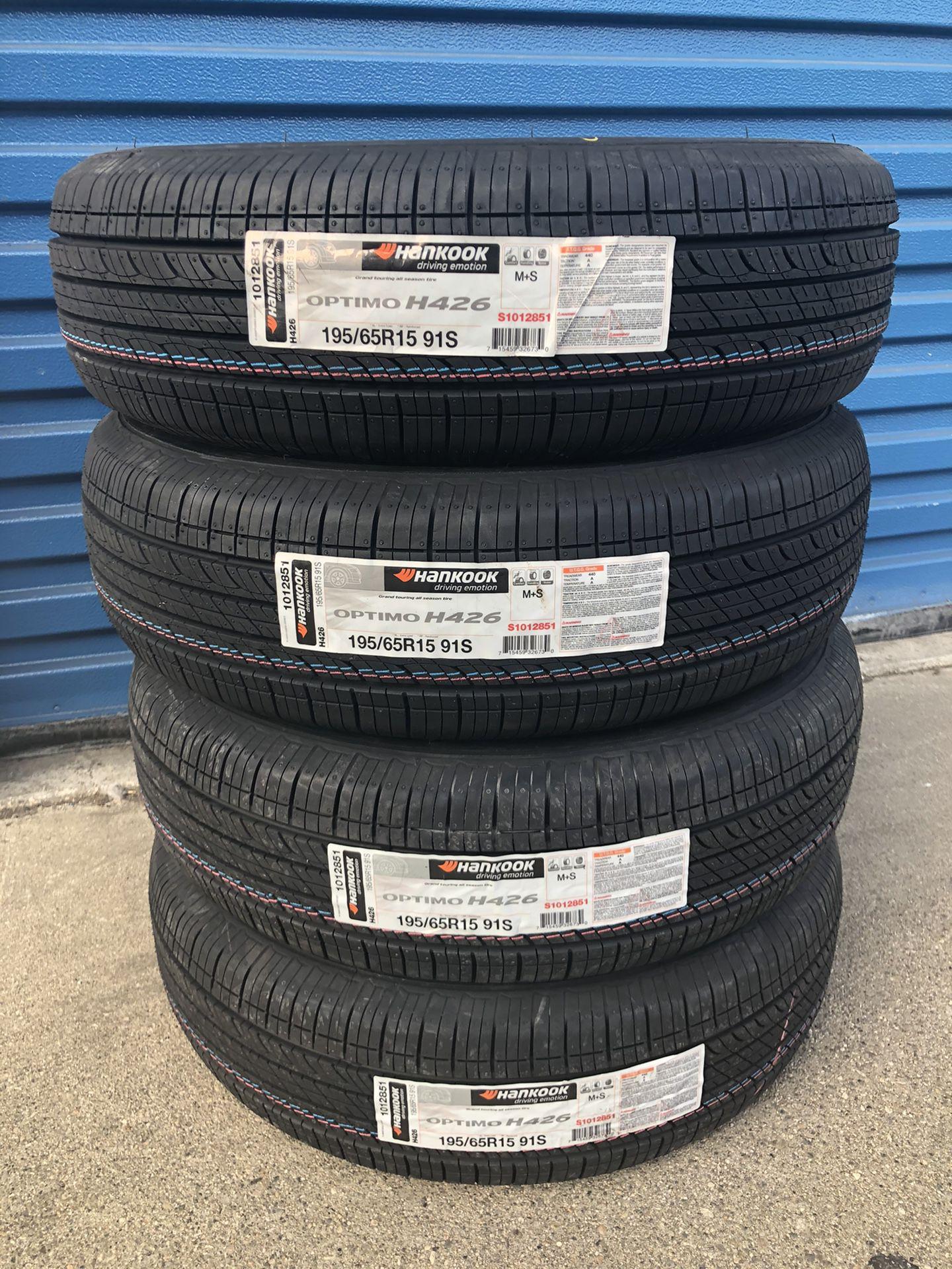 195/65/15 HANKOOK OPTIMO New Tires Llantas Nuevas 15