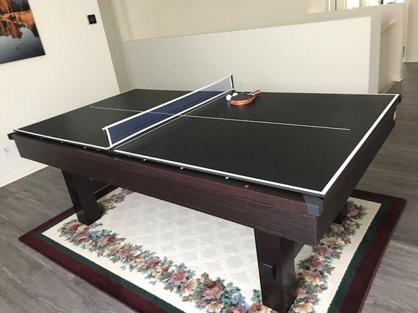 Sportcraft 90 Lexington Billiard Table W Table Tennis Top