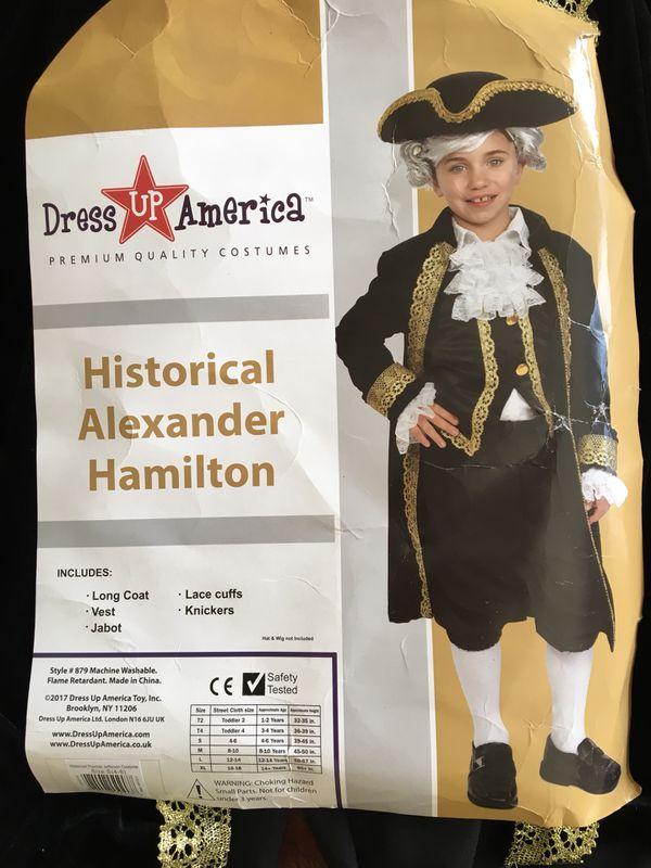 cbaa52f5c Kids Alexander Hamilton Costume for Sale in Tualatin