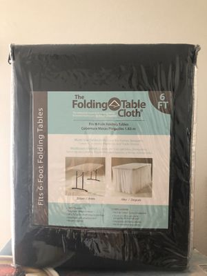 """Photo Folding Table Cloth 6ft-Black-""""New """" *NOT THE TABLE ONLY TABLE CLOTH* (FIRM PRICE)"""